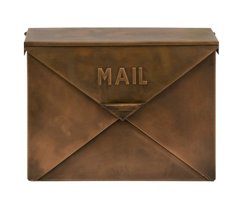 Imax 44090 Tauba Mail Box in Copper Finish - Use Multi-Dimensional Utility Box as Document Keeper, Letter Holder, Suggestion Box, Desk Organizer. Accent Piece for Home, Office ()