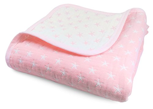Cute New York Sweet Dream Blanket/Pink Lightweight All Weather Cotton Jacquard Blanket for Babies and Toddlers
