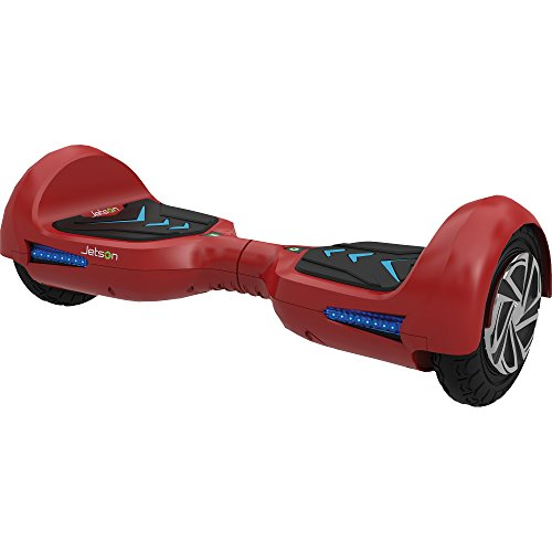 Jetson V6 Hoverboard Self-Balancing Electric Scooter with Powerful 700W Motor, LED Lights, Bluetooth Speaker and UL Certified Safe Battery