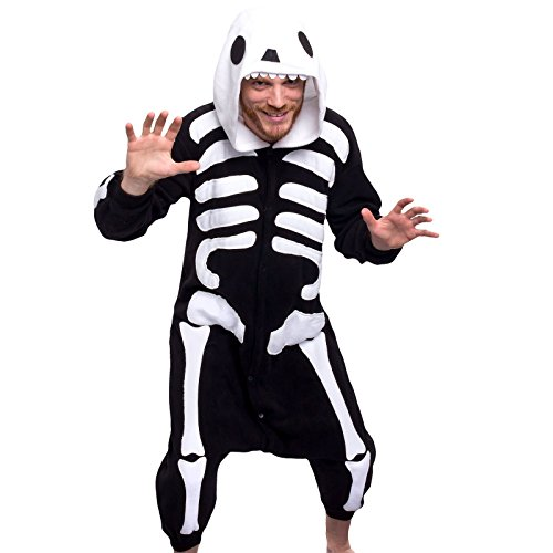 Silver Lilly Unisex Adult Pajamas - One Piece Cosplay Costume (Skeleton, S) - Boxer 4 Piece Costume