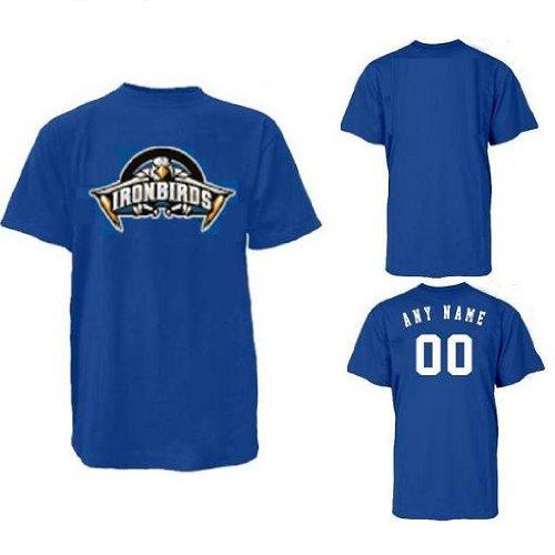 Minor League Uniforms - Majestic Athletic Adult Large Aberdeen Ironbirds Minor League Baseball Replica Jersey T-Shirt