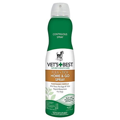 Vet's Best Flea and Tick Home & Go Spray, 6.3 oz, USA Made