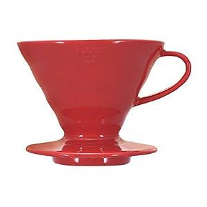 Hario V60 Ceramic Coffee Dripper (Size 02, Red)