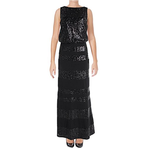 Lauren Ralph Lauren Womens Marcelina Sequined Sleeveless Formal Dress Black 4 Ralph Lauren Wedding