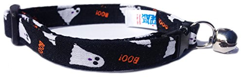 CritterGear Breakaway Cat Collar in Halloween Ghosts (U.S.A. Made) ()