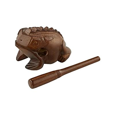 Meinl Percussion FROG-M Medium Wooden Frog Guiro, African Brown: Musical Instruments