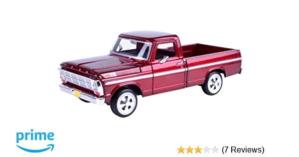 Amazon 1969 Ford F 100 Pickup Truck Burgundy 1 24 By Motormax