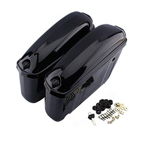 Ein Paar Motorrad Hartschalenkoffer Satteltaschen Motorrad Seite Hängende Aufbewahrungsbox Lagertank Gepäckträger Boxen Schwarz