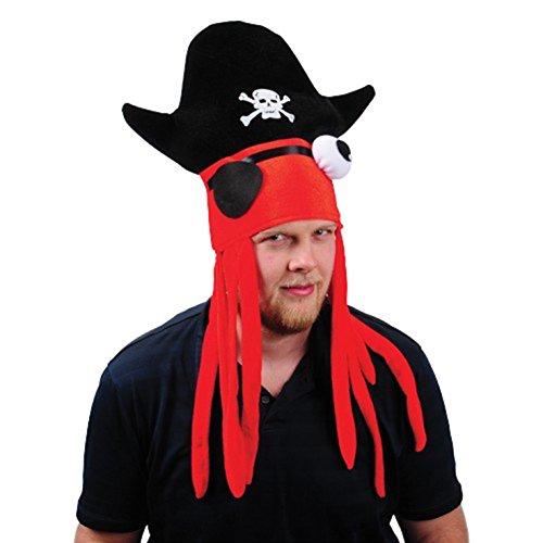 U.S. Toy Adult Size Deluxe Pirate Squid Hat with Dreadlocks (Davy Jones Hat)