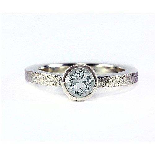 tone Low Profile Satin Ring - Sterling Silver, 14k Palladium White, 14k Rose Gold, 14k Yellow Gold - Promise Ring, Engagement Ring, Wedding - Simple - Handmade (Palladium Satin)