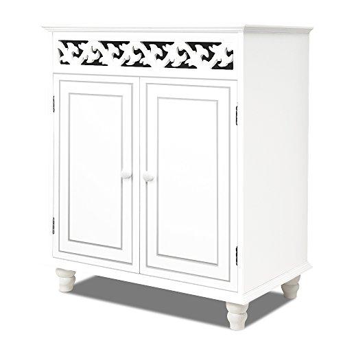 Kommode Jersey 2-türig weiß - Sideboard Schrank Anrichte Kleiderschrank Nostalgie Antik