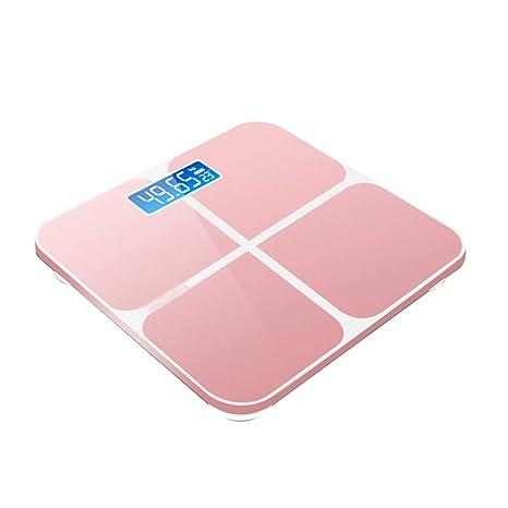 Básculas Electrónicas para Baño Escala De Peso Precisión Inteligente Vidrio Templado Diseño Redondeado Grande Carga USB