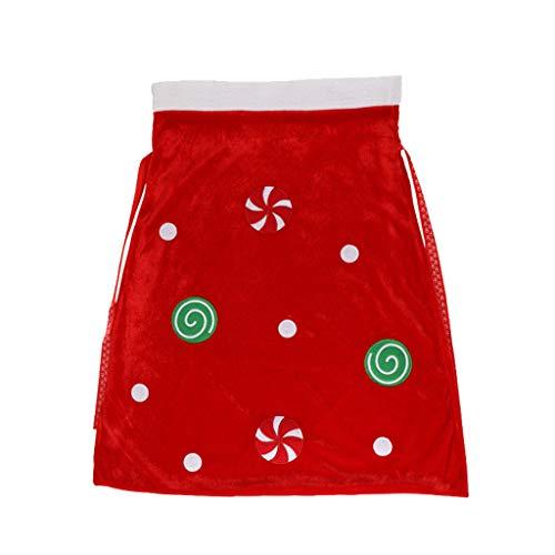 GXOK Large Santa Gift Bag Christmas Candy Bag Christmas Decorations Santa Sack Costume Velour Santa Bag Xmas Ornament Gifts Bag (Color B) (For Garden Large Sale Ornaments)