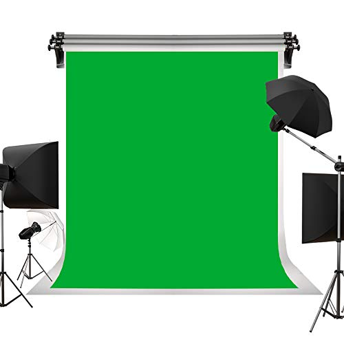 Kate 5ft(W)×7ft(H) Solid Green Backdrop Portrait Background for Photography Studio Screen for Photo Video Studio