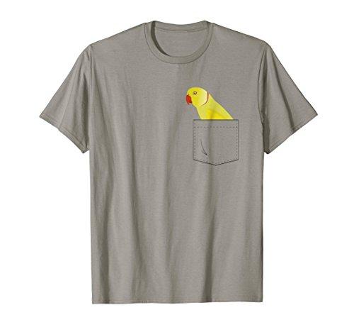 - Indian Ringneck Parakeet Parrot In Your Front Pocket T-Shirt