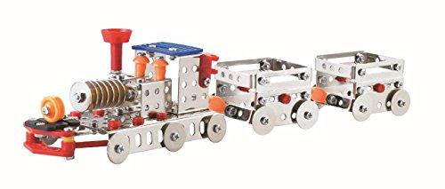 Lightahead Assembly Metal Train Model Kits Toy Train Engine to Assemble.Building Puzzles Set for Kids, 239 pcs metal blocks