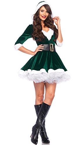 Leg Avenue Women's 2 Piece Mrs. Claus Costume, Green, X-Large for $<!--$39.93-->