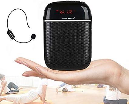 Amplificador de voz inalámbrico Bluetooth Profesor Micrófono 10W Impermeable Amplificador de voz portátil Auricular Mic Recargable Mejorador de voz Micrófono personal para aula al aire libre