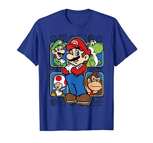 Super Mario Luigi Yoshi Toadstool Donkey Kong Box-Up T-Shirt