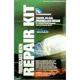 Fiberglass Resin Repair Kit with Fiberglass Mat (Quart)