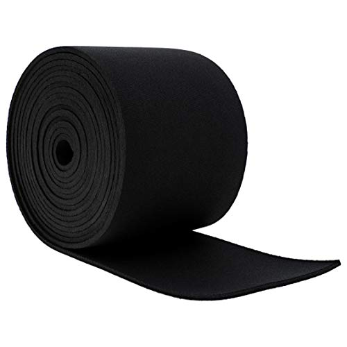 Genie Crafts 3mm Rubber Neoprene Roll Padding for Weather Stripping and Cosplay, 120 x 3 Inches]()