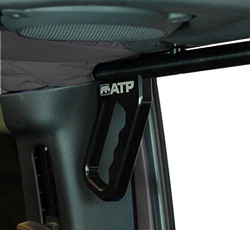 ATP 36070015K Billet Rear Grab Handles Black Jeep Wrangler JK ()