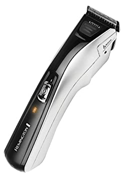 Remington HC5350 Advanced Steel - Cortapelos inalámbrico para cabello, motor Pro Power, 2 peines, cargador USB