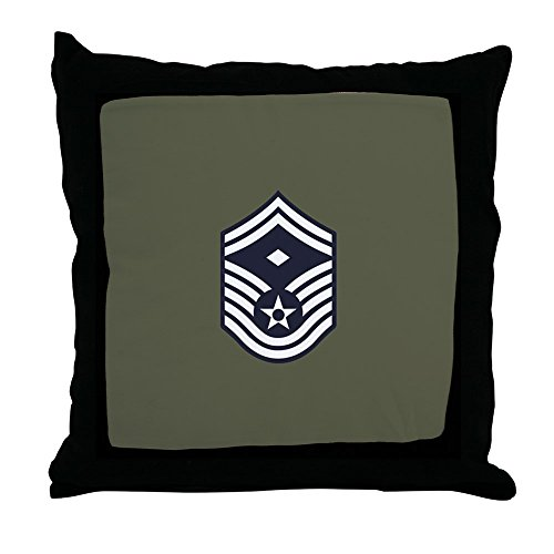 (CafePress - USAF: Smsgt E-8 (Green) - Decor Throw Pillow (18