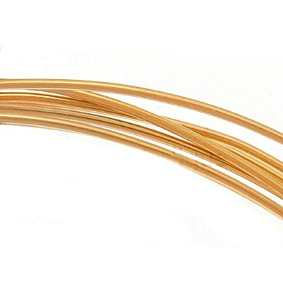 14K Gold Filled Wire 22 Gauge Round Half Hard (5 Feet) by Beadaholique
