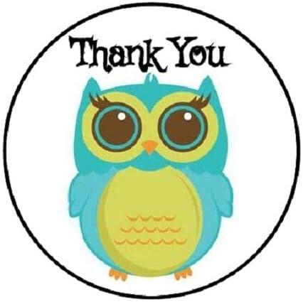 HotSaleStore Sticker Seals 48 Thank You OWL #4!! Envelope Seals Labels Stickers 1.2 Round