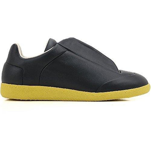 Maison Margiela Men's Black Leather Sneakers Shoes - Size: 6 - Boutique Margiela