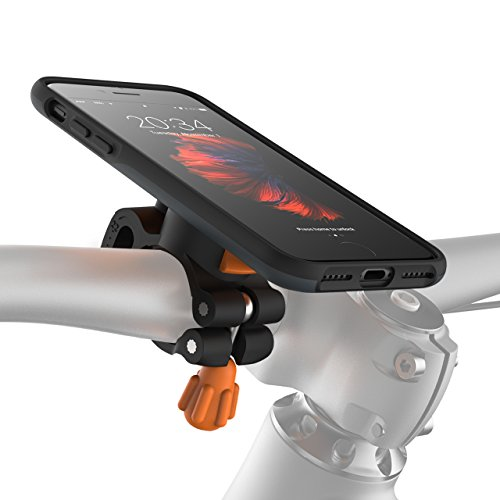 MORPHEUS LABS M4s iPhone 8/iPhone 7 (Not Plus) Bike Kit, Bike Mount & iPhone 8/iPhone 7 Case, Cell Phone Holder for Apple iPhone 7/iPhone 8, Safe Bicycle Phone Mount, Bicycle Holder [Slate Grey] (M4s System)