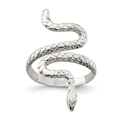 (925 Sterling Silver Snake Band Ring Size 6.00 Animal Fine Jewelry Gifts For Women For Her)
