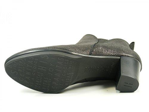 HI63729 Schwarz Boots Brenet mujer de cuero para Botines Ankle Hispanitas pRqPwx