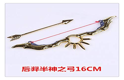 (YshengHu Accessories Anime Cosplay Costume Keyring Pendant 16CM Metal Necklace Game Model Keychains)