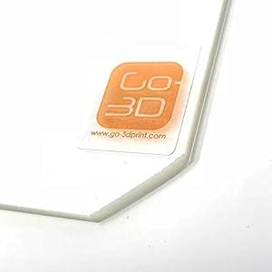 130mm x 160mm Borosilicate Glass Plate Bed Flat Polished Edge w/ Corners Cut for 3D Print by GO-3D PRINT