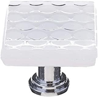 product image for Sietto K-900-PC Texture 1-1/4 Inch Square Cabinet Knob