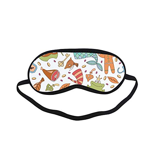All Polyester Magic Boots Psychedelic Magical Cute Sleeping Eye Masks&Blindfold by Simple Health with Elastic Strap&Headband for Adult Girls Kids and for Home Travel