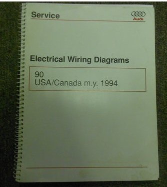 1994 AUDI 90 USA CANADA M.Y. Electrical Wiring Diagram Service Manual OEM 94