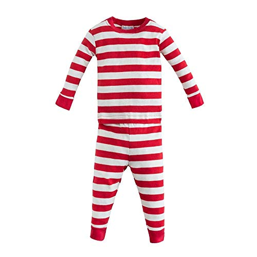Under The Nile Apparel Unisex Baby Long Johns Rugby Sleepwear, Red, 18 - Nile The Pajamas Under