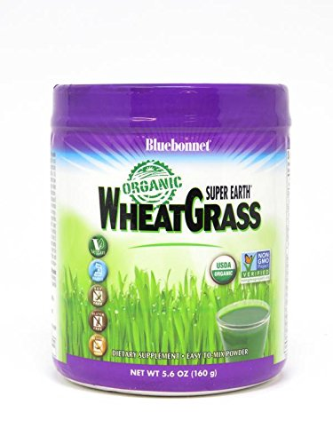 Bluebonnet Nutrition Super Earth Organic Wheatgrass, Green Powder Superfood, 5.6 Ounce