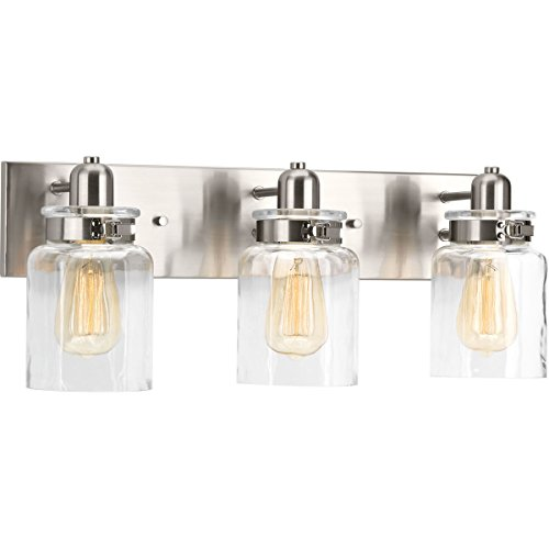 Progress Lighting P300047-009 Calhoun Brushed Nickel Three-Light Bath & Vanity, 3