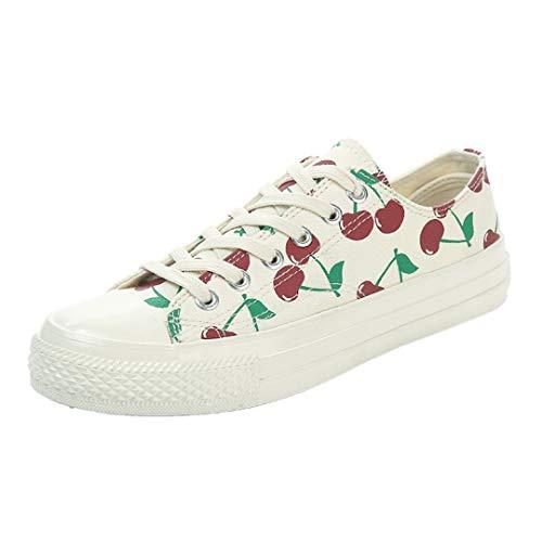 0d8e2797ec6a6 JOYBI Women Fashion Flats Canvas Sneakers Lace-Up Leisure Print Girls Slip  On Comfortable Tenis Vulcanized Shoes