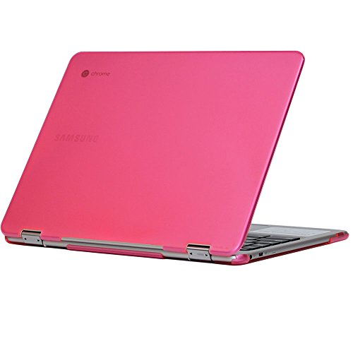 iPearl mCover Hard Shell Case for 12.3 Samsung Chromebook Plus XE513C24 Series (NOT Compatible with Older XE303C12 / XE500C12 / XE503C12 Models) Laptop - Chromebook Plus XE513C24 (Pink)