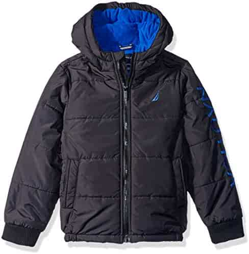 b3a268b4e cookieskids clothing · nautica boys big water resistant signature bubble  jacket with storm cuffs ...