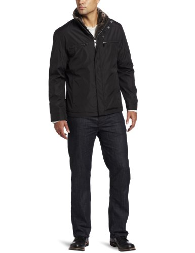 (Marc New York by Andrew Marc Men's Brady Open Bottom Nylon Jacket, Black, XX-Large)