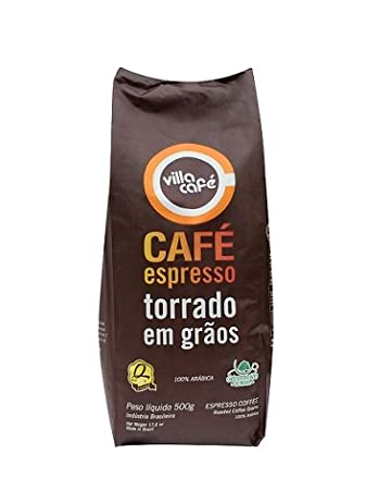 Villa Cafe Gourmet Espresso Torrado em Graos 100% Arabica (Espresso Coffee Roasted Coffee Grains