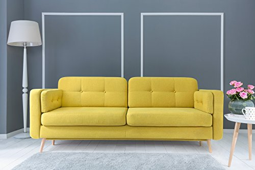 Cornet Lux 3DL sofa bed with storage from EU IN YELLOW