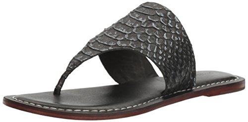 Bernardo Women's Monica Flat Sandal, Black Snake, 7.5 M US