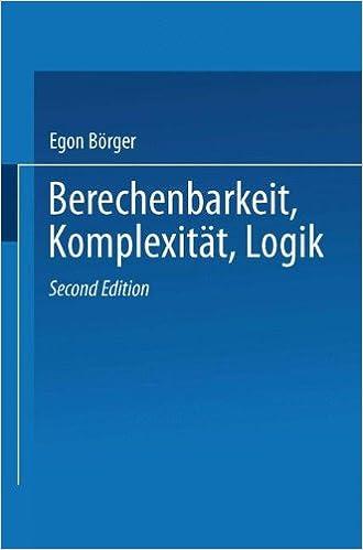 Book Berechenbarkeit, Komplexität, Logik